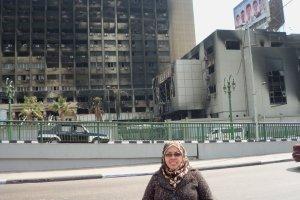 edificio quemado de mubarak-cairo